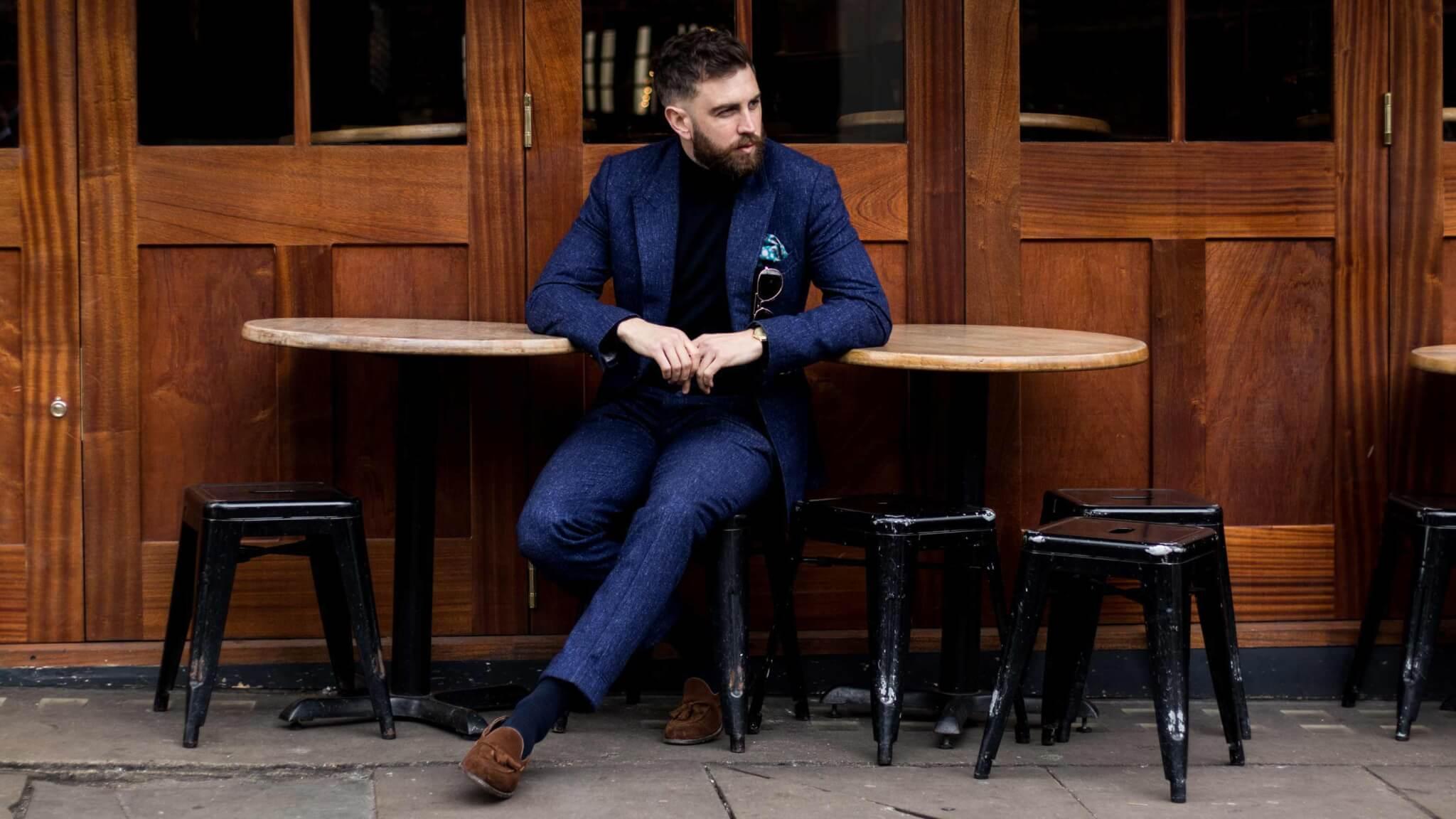 Custom Blue Business Suit