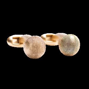 textured-ball-gold-cufflinks