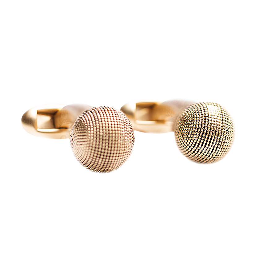 textured-ball-gold-cufflinks