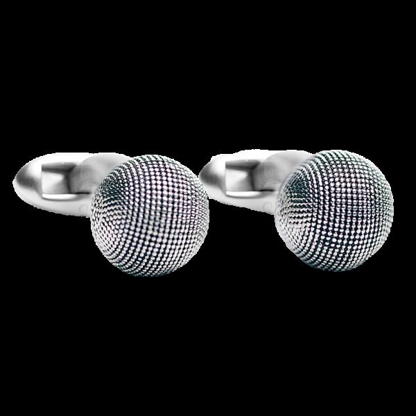 textured-ball-silver-cufflinks