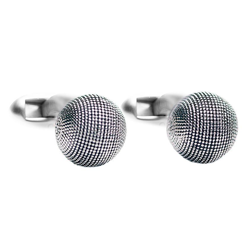 textured-ball-silver-cufflinks