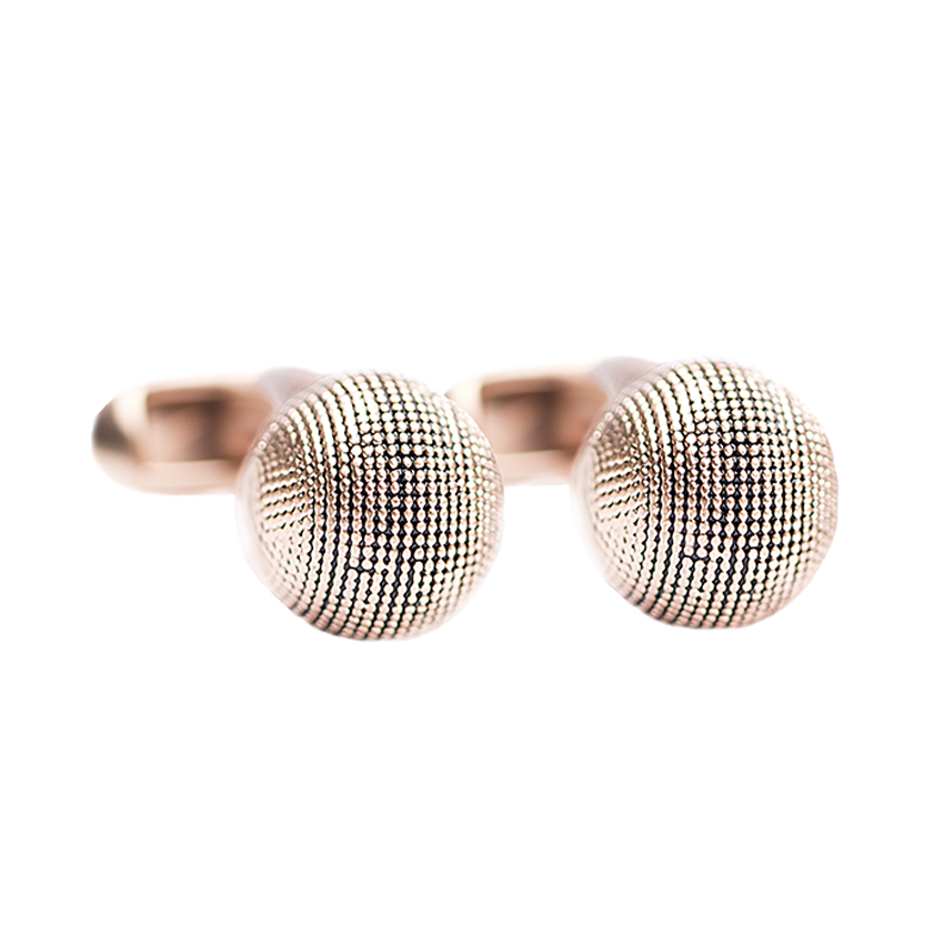 textured-ball-rose-gold-cufflinks