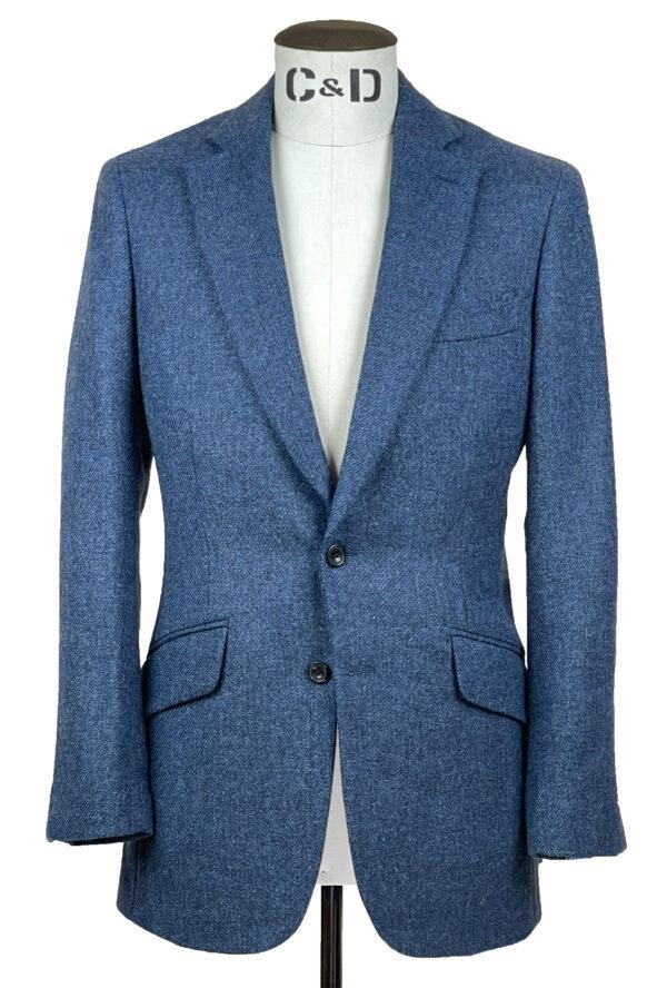 Delt Blue Tweed Jacket Front