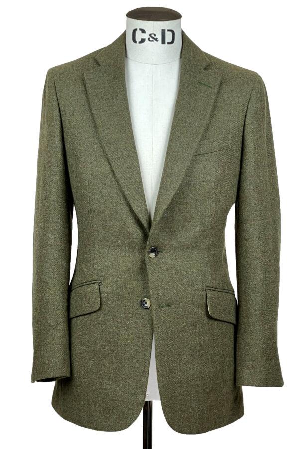 Hunter Green Tweed Jacket Front