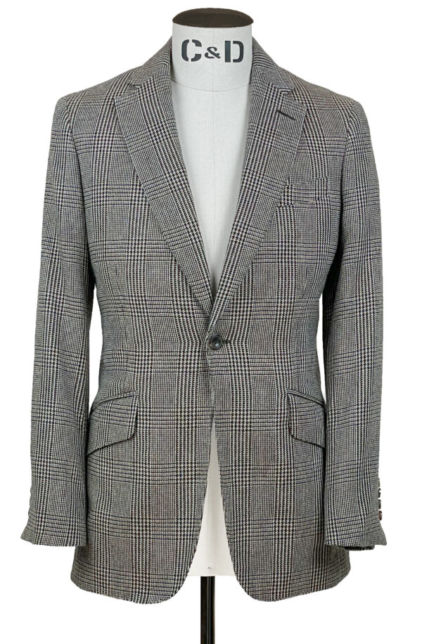 Lambswool Check Jacket Front