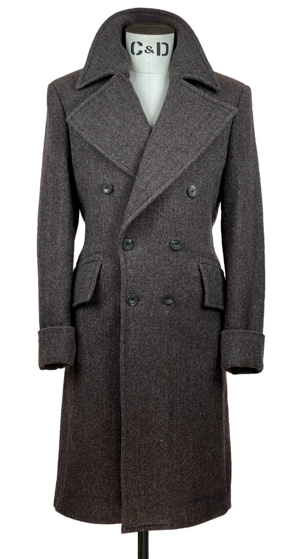 Tobacco Brown Great Coat Front