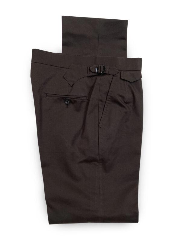 Cotton Trousers – Dark Brown