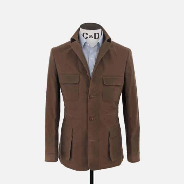 Tan Wax Jacket Front